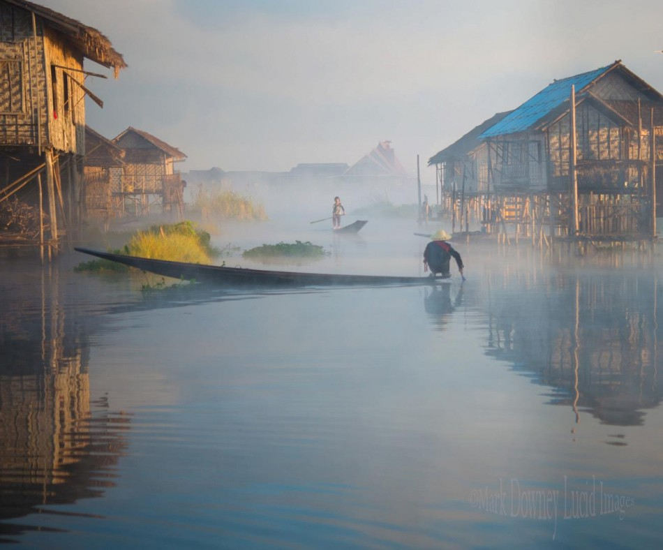 Inlay Lake Mist, Myanmar