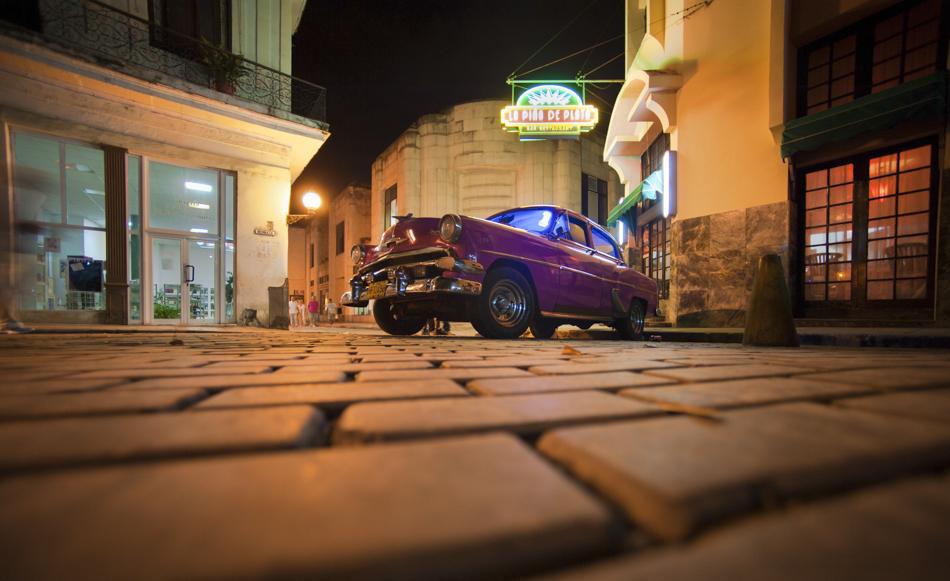 Pink classic car, Havana