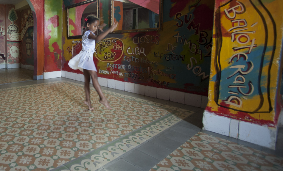 Girl dancing, Havana, Cuba